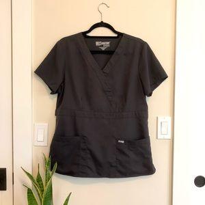 Grey's Anatomy Black Scrubs Top